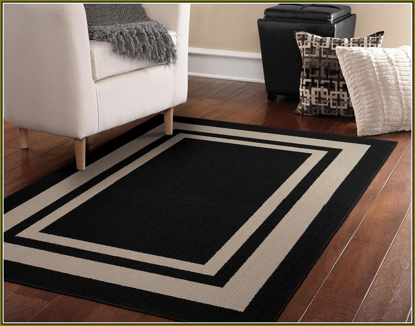 Black And White 5x7 Area Rug