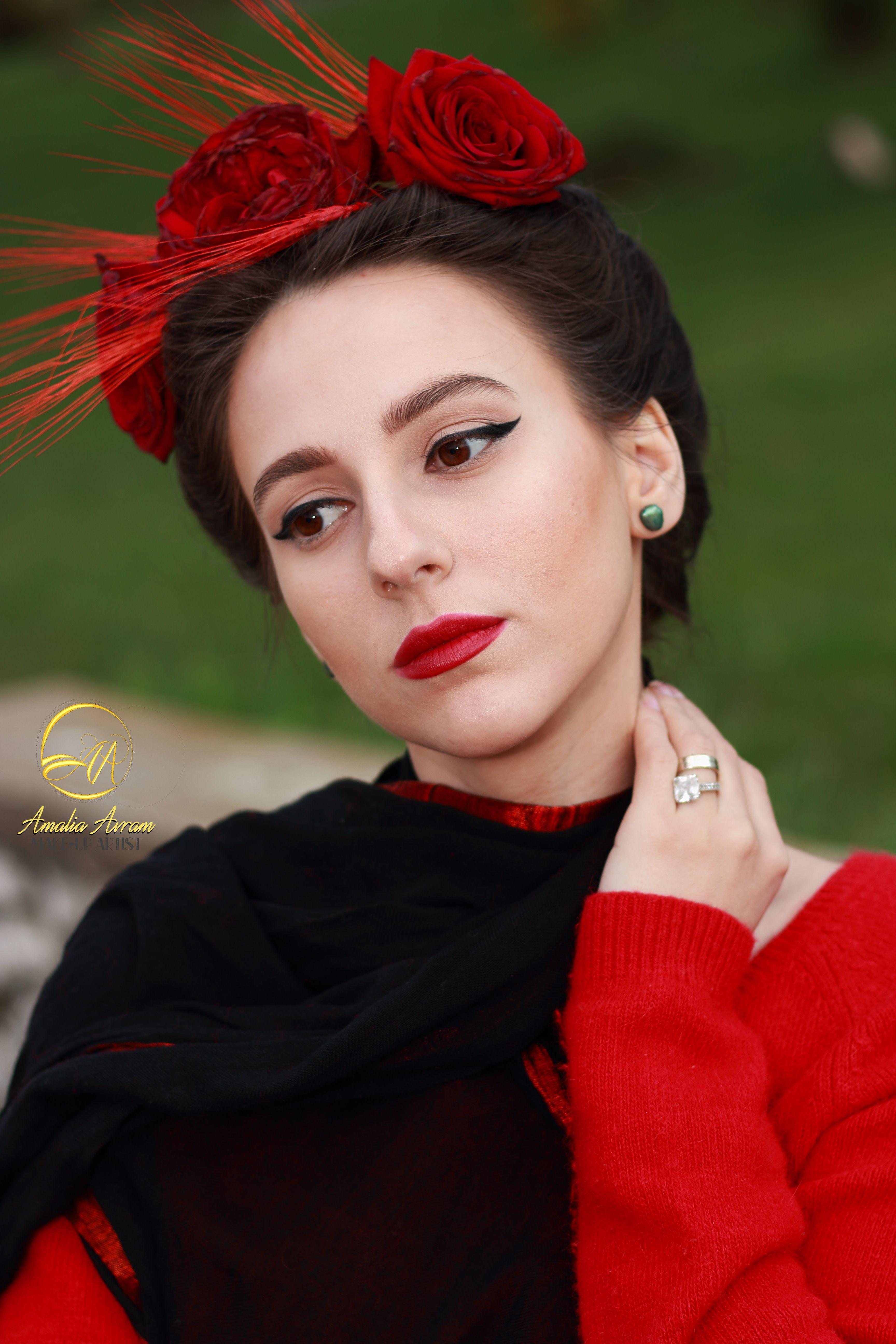 Glam Girl, Glam UP, red lips, natural makeup, makeup