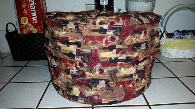 Quilted Crock Pot Cover I Made For My Brothers Kitchen Sewing Projects Quilt Sewing Crock