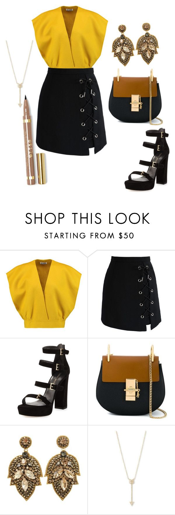 """Untitled #199"" by anjola112 on Polyvore featuring Jil Sander, Chicwish, Stuart Weitzman, Chloé and EF Collection"