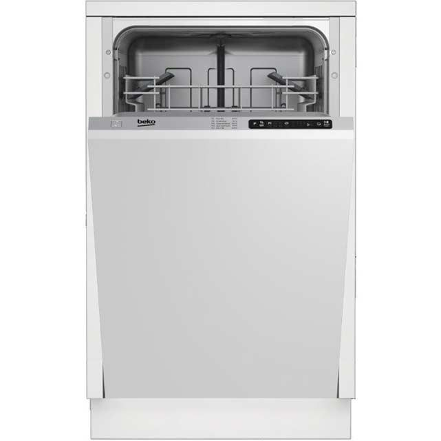 Beko DIS15010 Built In Fully Integrated Slimline Dishwasher - Silver ...