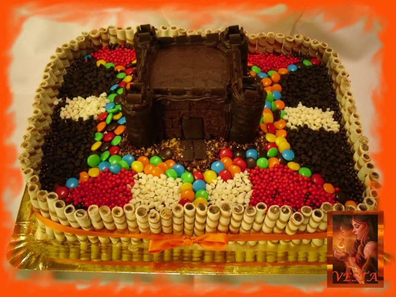 torta golosinera castillo torta decorada con golosinas candy