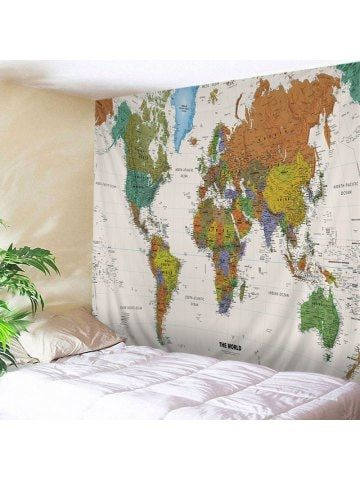 Wall hanging art world map print tapestry tapestry pinterest wall hanging art world map print tapestry tapestry pinterest hanging art tapestry and walls gumiabroncs Images