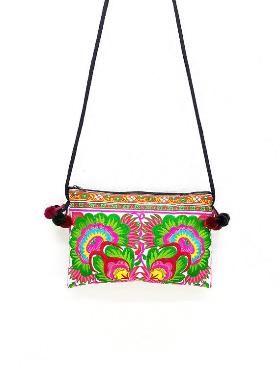 502c047779d7 Thai Hill Tribe Bag Pom Pom Hmong Thai Bag Embroidered Et ...