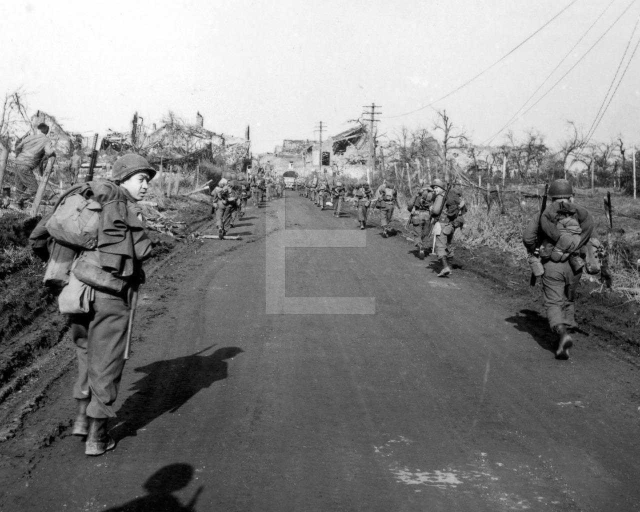 1945 WW2 Julich Germany 29th Army Infantry