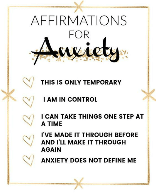 Affirmations For Anxious Times