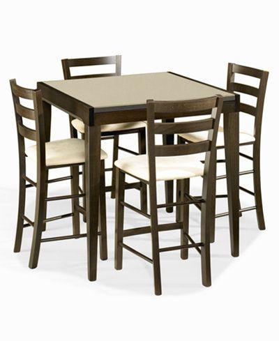 caf latte dining room furniture 5 piece counter height set glass rh pinterest com