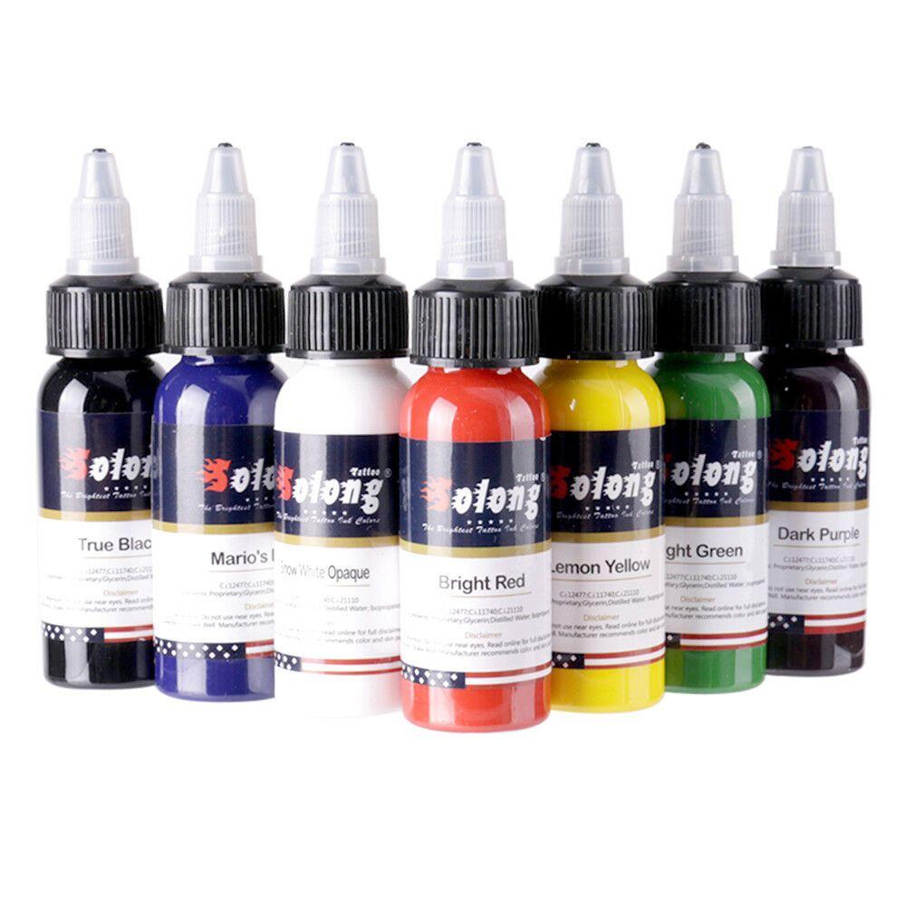 Ebay Sponsored Solong Tattoo Ink 7 Colors Set 1oz 30ml Each Bottle Top Tattoo Pigment Kit Ti302 Tattoo Ink Sets Tattoo Machine Kits Ink Tattoo