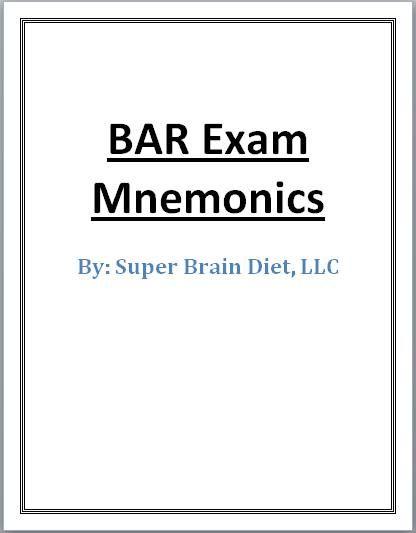 Bar Exam Mnemonics Cover Page   Law   Exam motivation, Exams