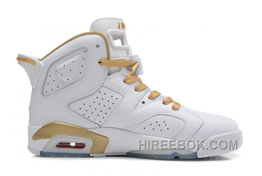 Air Jordan 6 Retro Gold Medal White Gold Cheap Sale