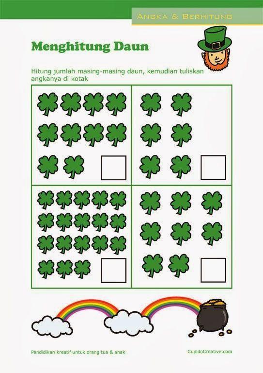 Belajar Hitung Angka 1 20 Lembar Latihan Matematika Untuk Anak Paud Tk Balita Belajar Belajar Menghitung Buku Mewarnai