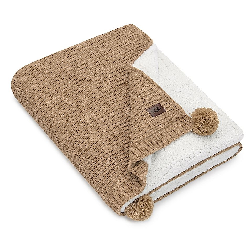 Ugg anderson throw in sand uggs knitted throws faux