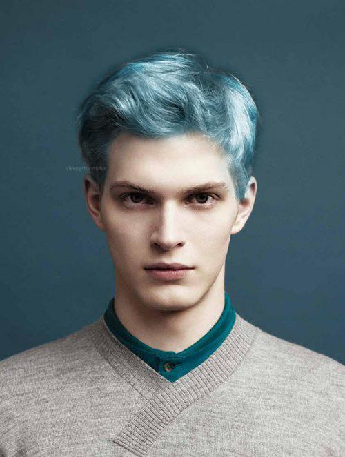 Blue Hair Man 3 Men Hair Color Mens Hairstyles Blonde Hair Color