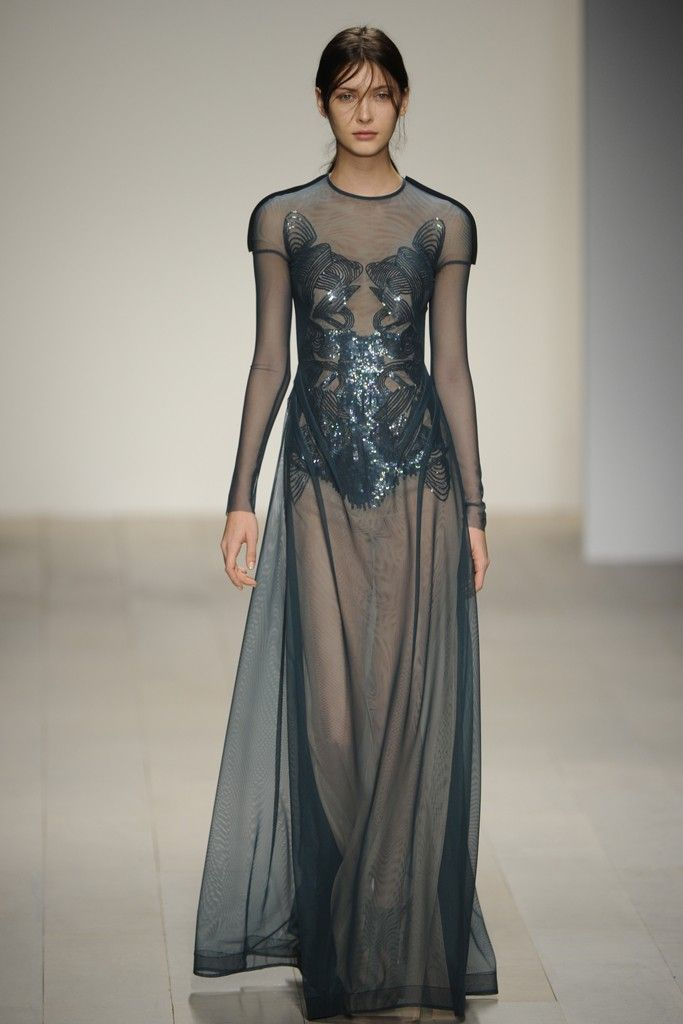 Marios Schwab RTW Fall 2012 - Color & bodice!