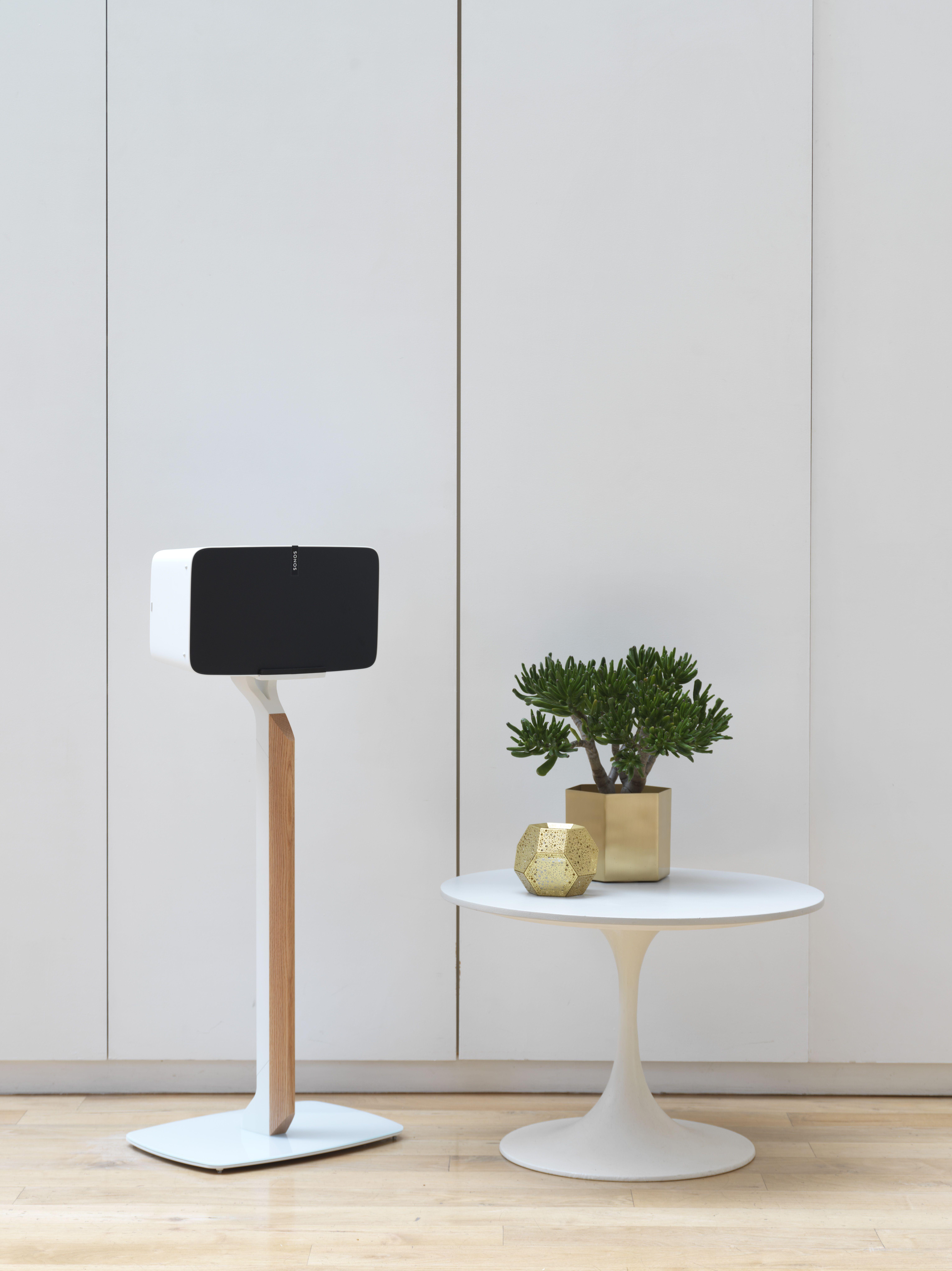White//Oak Flexson Premium Floor Stand For SONOS PLAY:5
