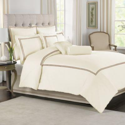 Wamsutta® Baratta Stitch Comforter Set In Ivory   BedBathandBeyond.com