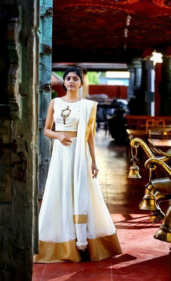 Kerala style engagement dress fashion