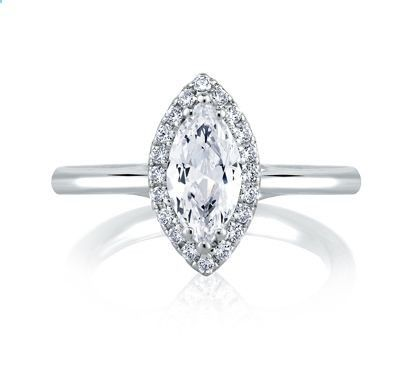 ajaffe classic halo marquise engagement ring the wedding ring shop style me1588 - The Wedding Ring Shop