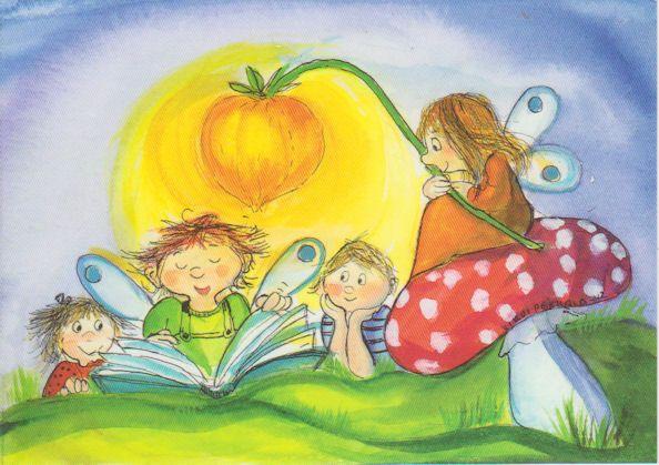 Bedtime Story | Card illustration, Illustration quotes, Angel illustration