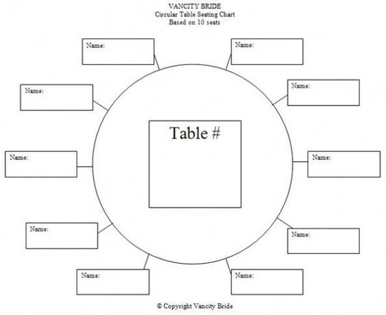 Table Assignment Template Google Search Seating Arragements - Table assignment template