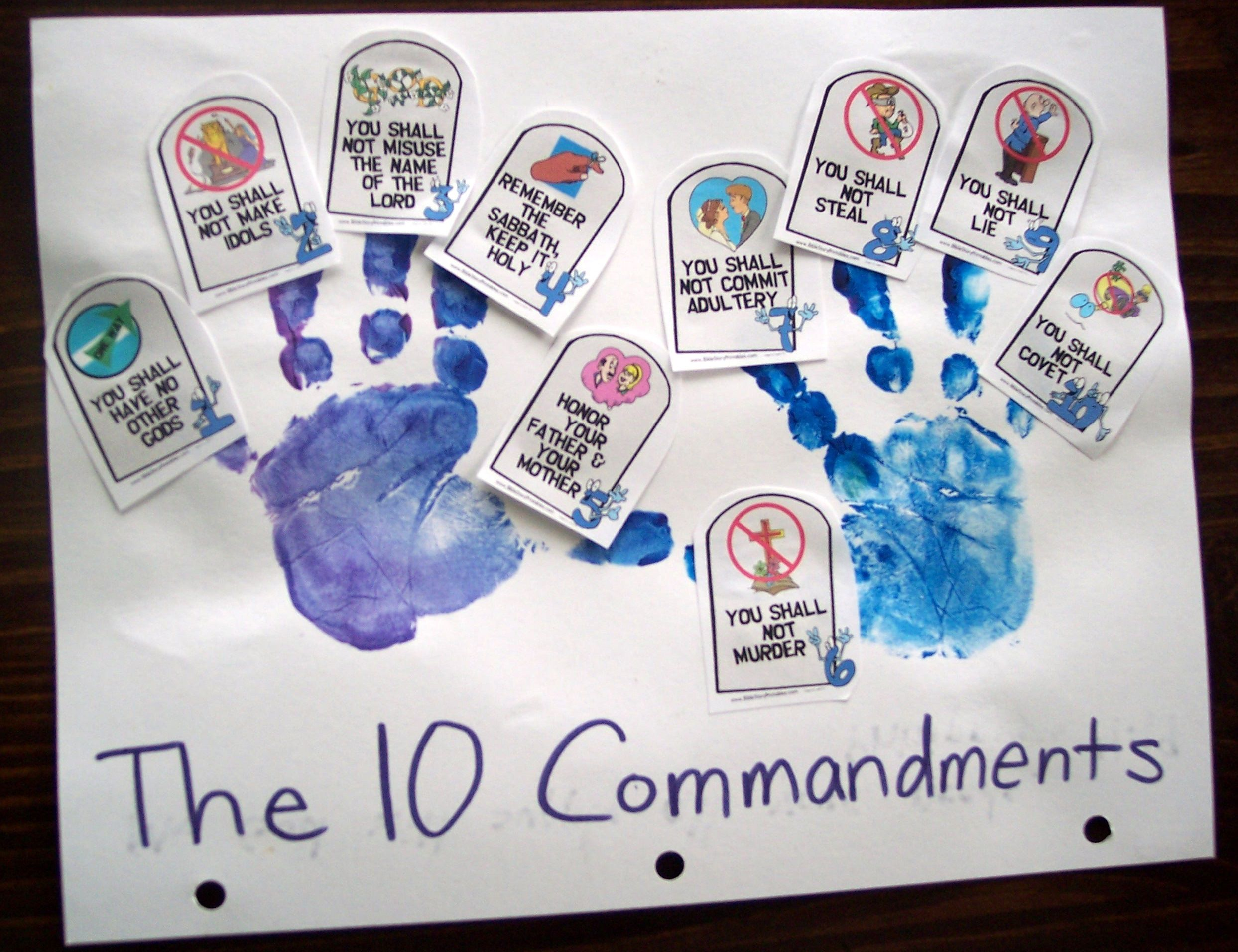 I put together an ipod playlist for the first time in a for Ten commandments crafts for preschoolers