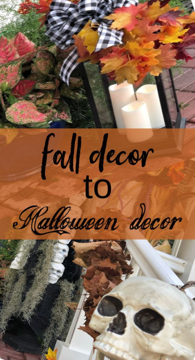 Easy Change from Fall to Halloween Decor Celebrate