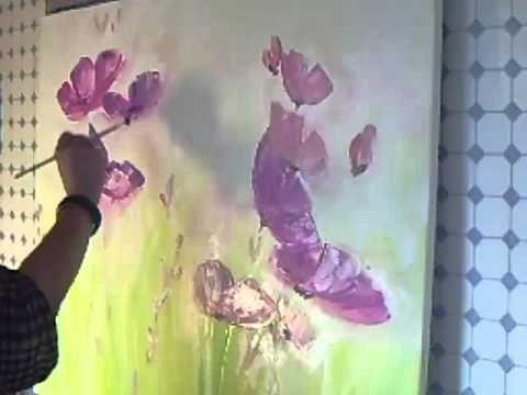 Acrylmalerei abstraktes blumenbild sabine belz - Acrylbilder malen vorlagen ...