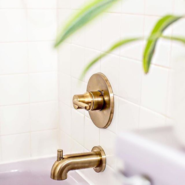 Champagne Bronze Bathroom Faucet Delta Faucet Trinsic Tub Filler Featured  Photo: @dreamgreendiy