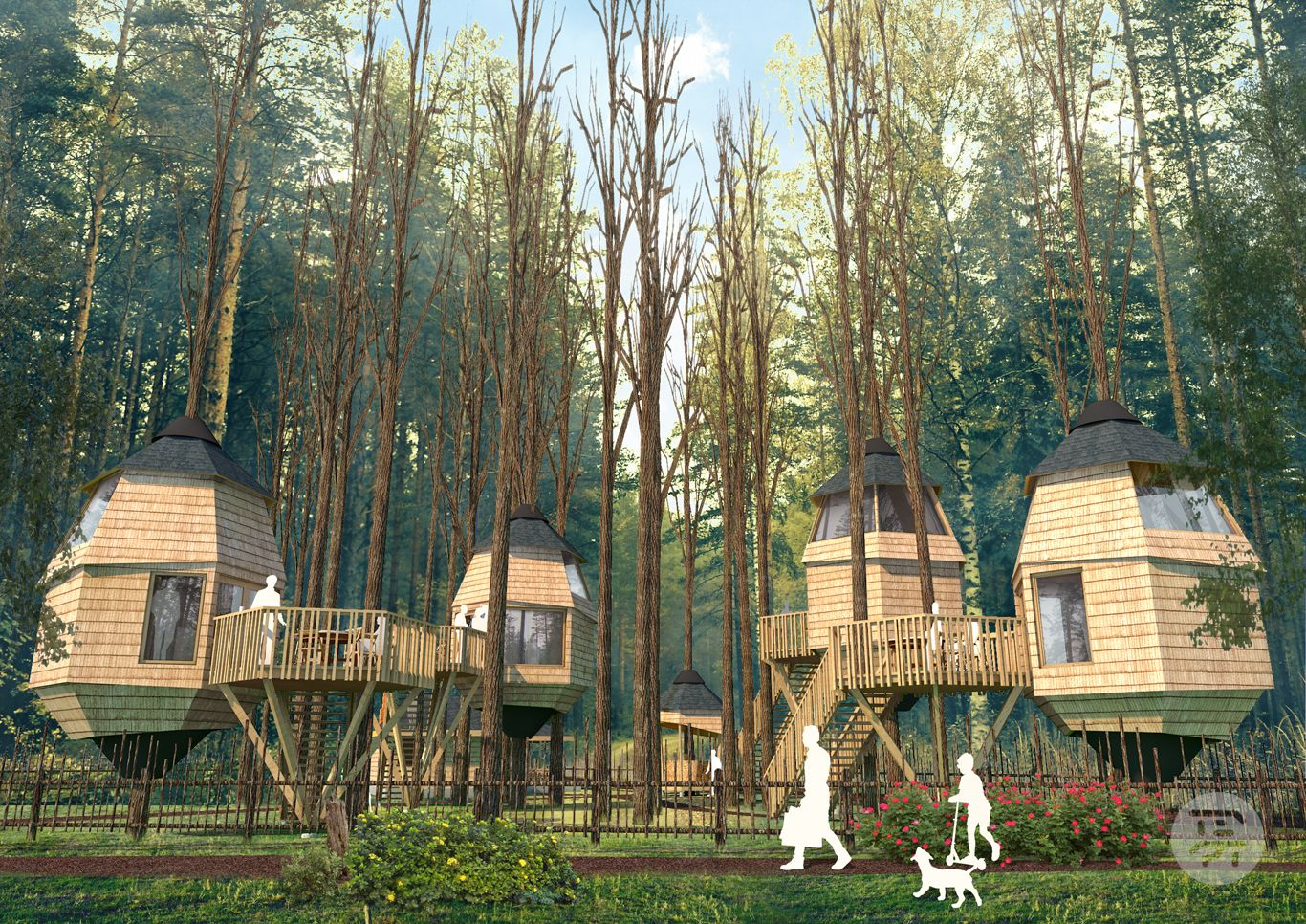 Decors Et Paysages Bergerac treehouse hotel project in taevaskoja, estonia. | treehouse