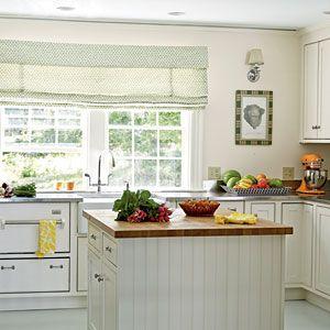 Neutral White Cottage kitchen - 100 Comfy Cottage Rooms - Coastal Living Mobile