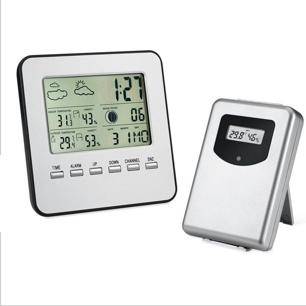 YK Indoor Outdoor Wireless Weather Station Thermometer Hygrometer ...