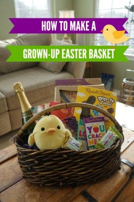 Making a grown up easter basket easter baskets and easter easter negle Choice Image