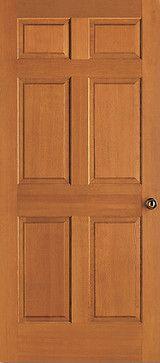 Red Oak Veneered Six Panel. Wood DoorsWood Interior ...