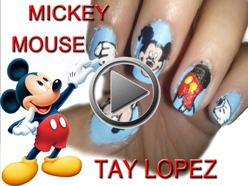 uñas Mickey mouse | Decoración de uñas | Pinterest