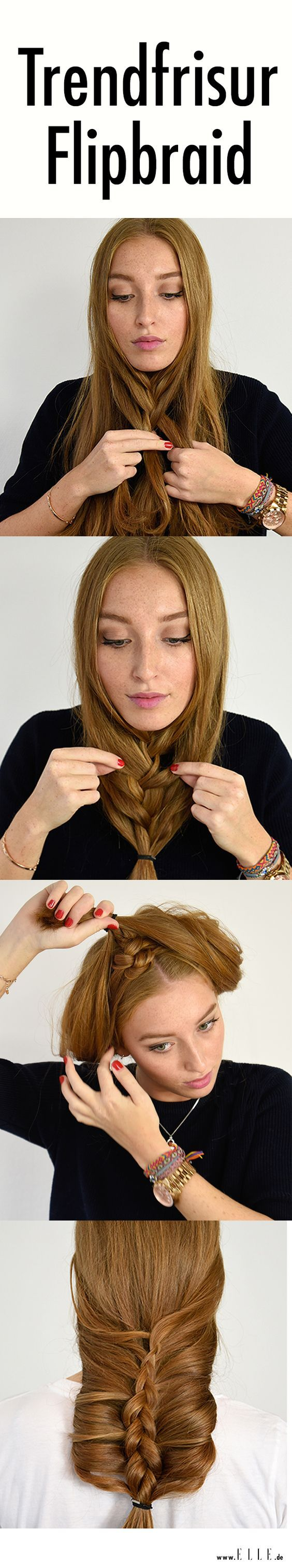 Flip braid in schritten zur trendfrisur tutorials hair style