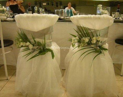 Id es pour notre futur mariage album et mariage for Housse de chaise rose