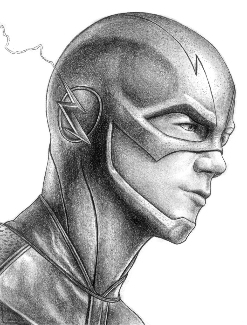 Sketch sunday the flash created by iain reed some cool for Awesome face drawing