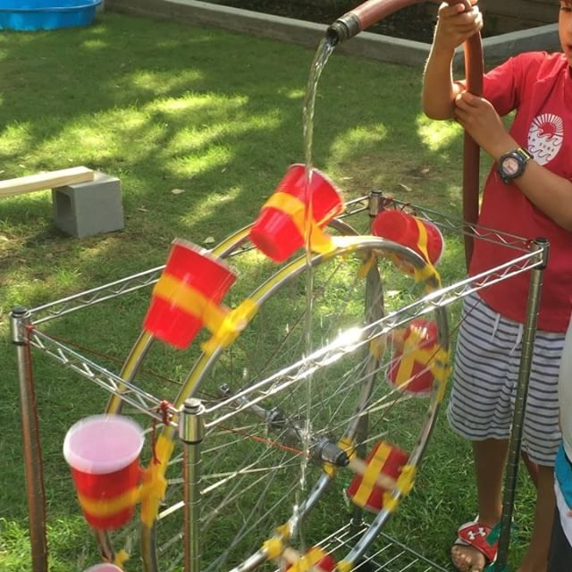 Stem Schools In Egypt: We Made A Water Wheel Today At Wee Warhols Great