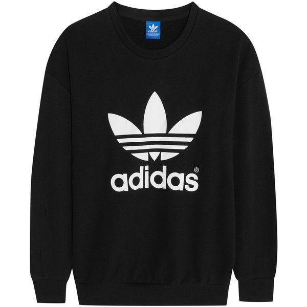 adidas Originals Trefoil cotton-blend jersey sweatshirt, Women's ...
