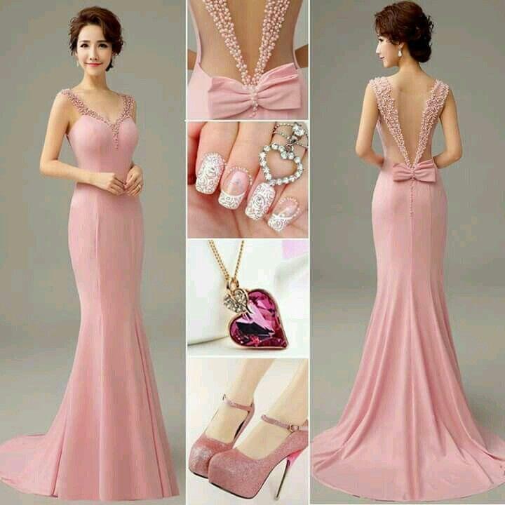 Vestidos de graduacion rosa pastel