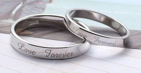 5f183baa09 Love Forever Engraved His and Her Promise Rings for valentines ...
