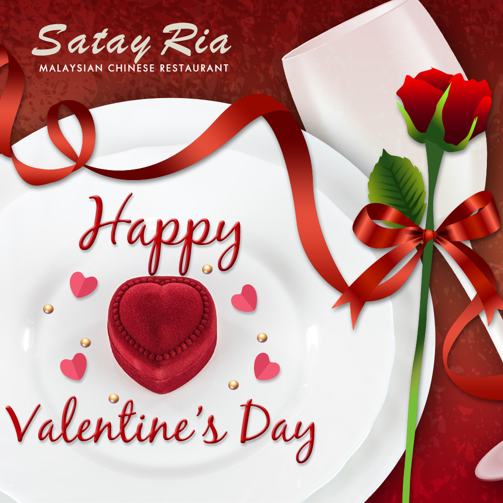 Happy Valentine's Day everyone! #ValentinesDay #Vday #Valetines2017 #ValetineDay #SatayRia #MalaysianRestaurant