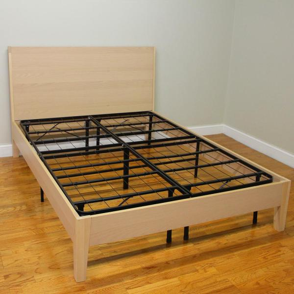 Hercules Queen Size 14 In H Heavy Duty Metal Platform Bed Frame