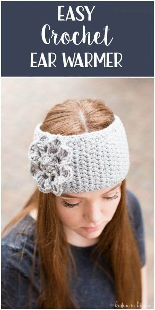 Easy Crochet Ear Warmer   Pinterest