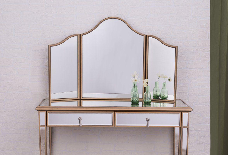 Emerita arched wall mirror elegant lighting sleek decor
