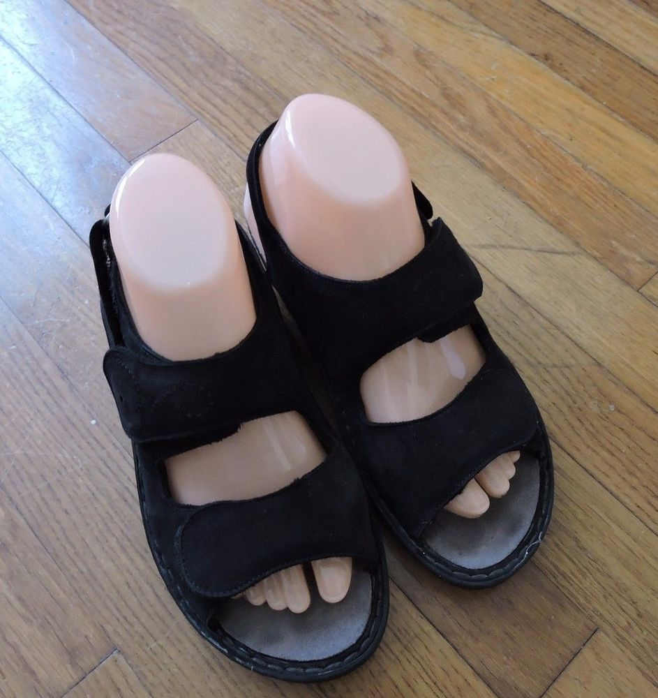 Mephisto Mobil Air Relax Black Women Sandals Size 38