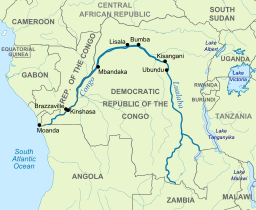 Congo River On World Map Congo River | Congo river, Congo, River basin