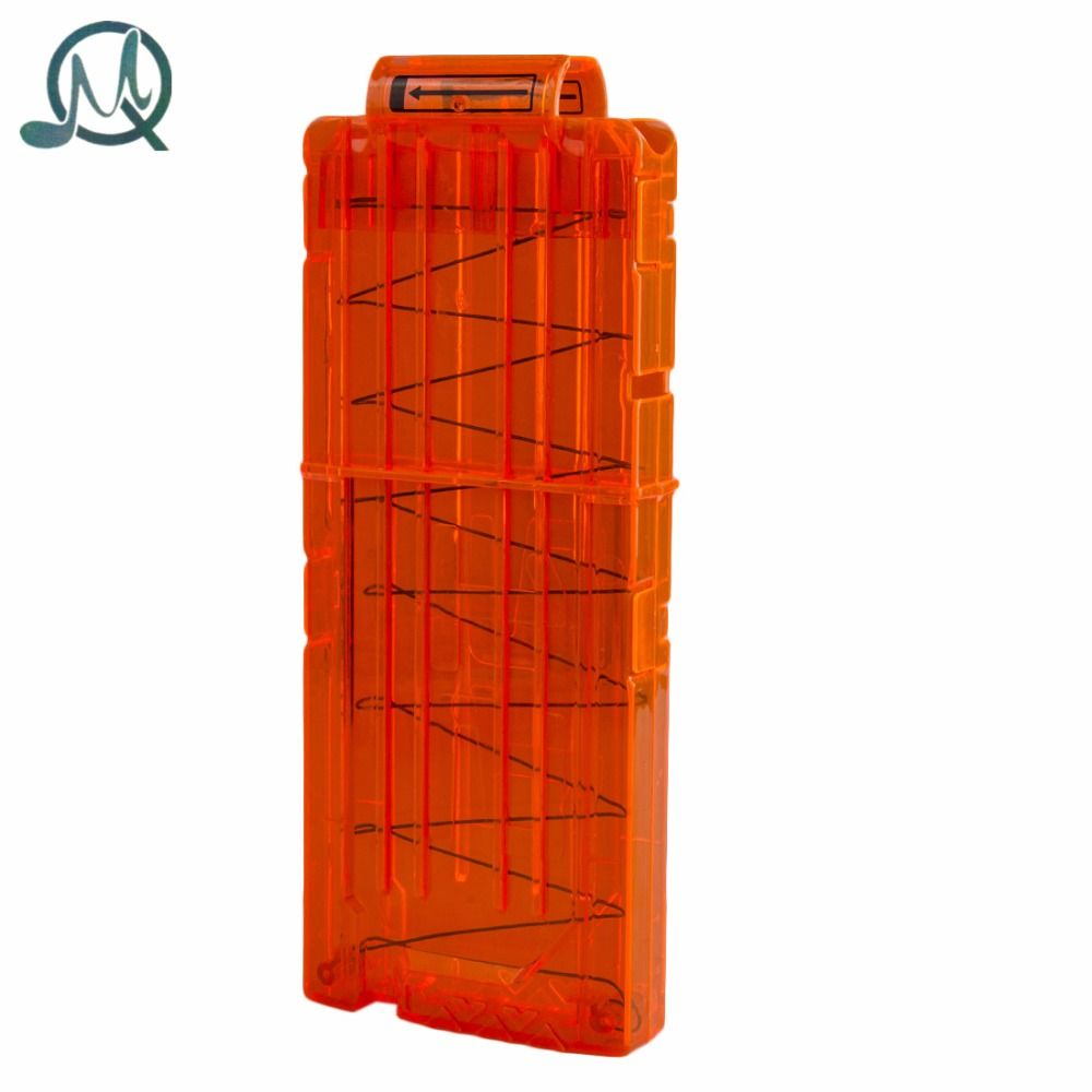 Mq 12 다시로드 클립 잡지 라운드 다트 교체 플라스틱 잡지 장난감 총 부드러운 총알 클립 orange 대한 nerf n-스트라이크 엘리트
