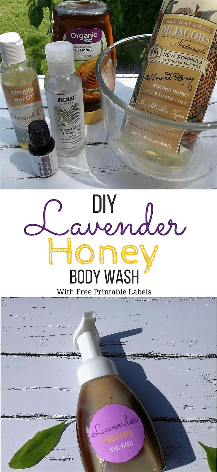 DIY Lavender Honey Body Wash