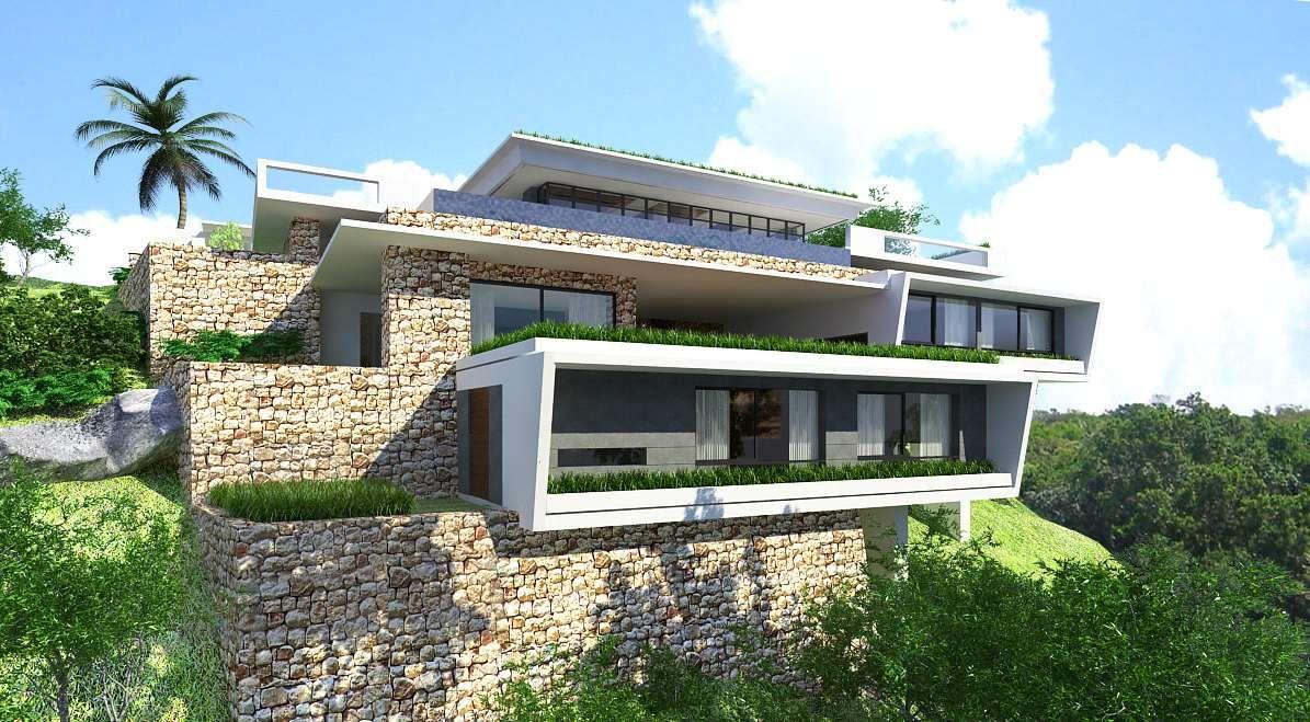 Modern House Design On Hillside Modern House